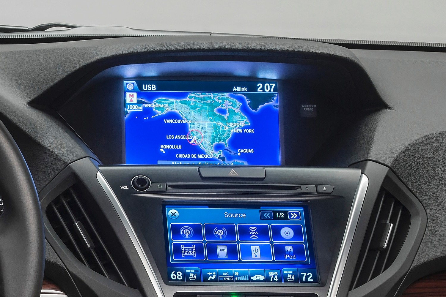 Acura MDX SH-AWD w/Technology and Entertainment Packages 4dr SUV Navigation System (2014 model year shown)