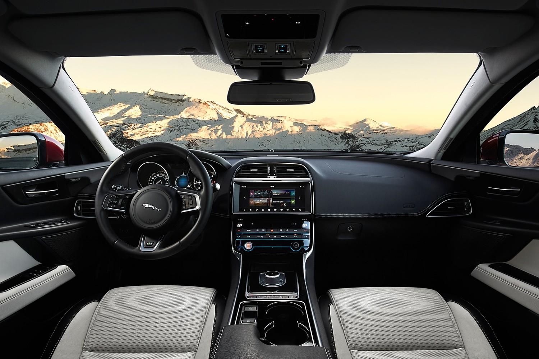 Jaguar XE 20d R-Sport Sedan Dashboard Shown (2017 model year shown)
