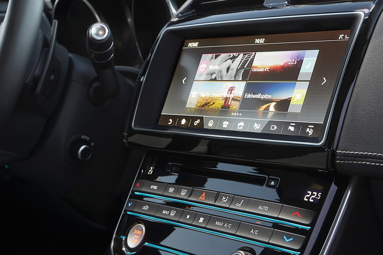 Jaguar XE 20d R-Sport Sedan Center Console (2017 model year shown)