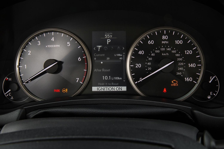 Lexus NX 200t 4dr SUV Gauge Cluster (2015 model year shown)