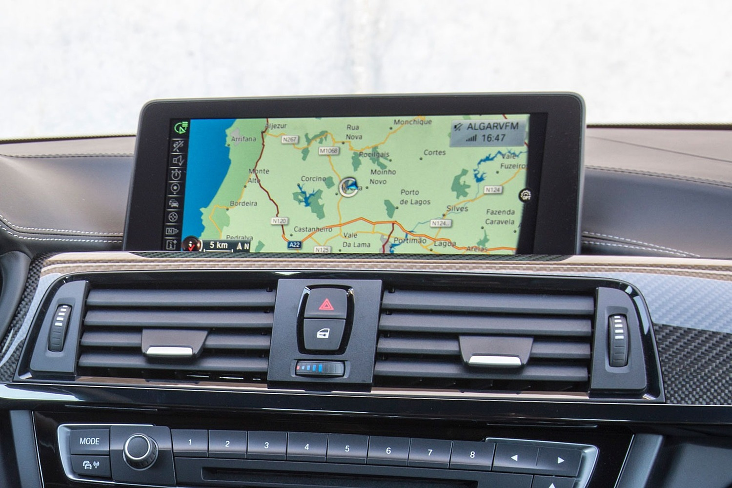 BMW M4 Coupe Navigation System (2015 model year shown)