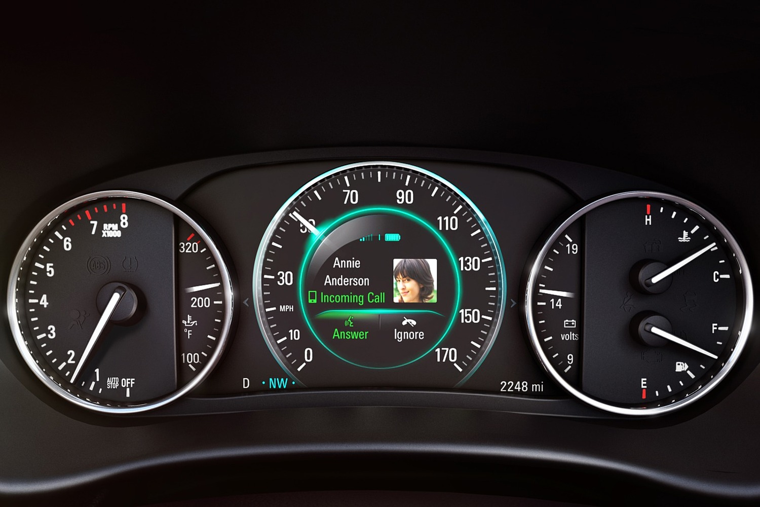 Buick Envision Premium II 4dr SUV Gauge Cluster (2016 model year shown)