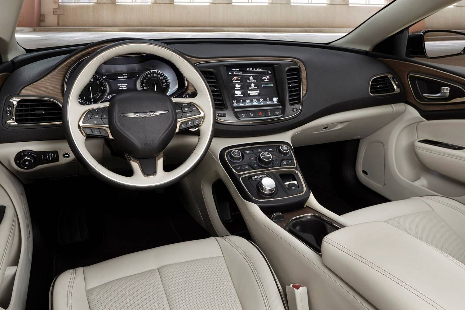 Chrysler 200 C Sedan Interior (2015 model year shown)