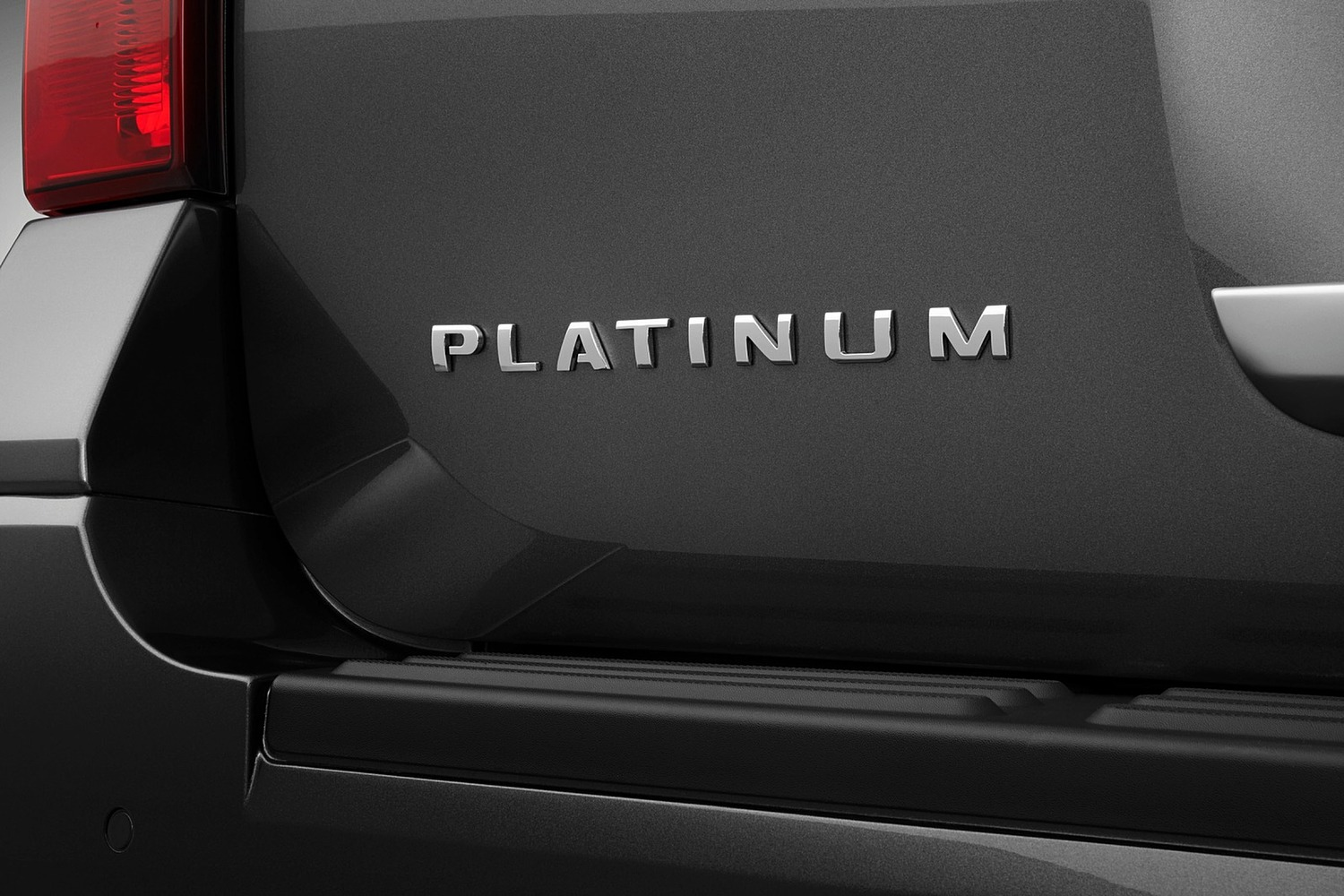 Ford Expedition Platinum 4dr SUV Rear Badge (2015 model year shown)