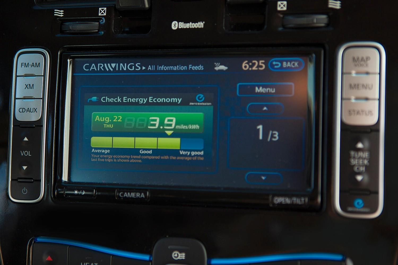 Nissan Leaf SL 4dr Hatchback Center Console (2014 model year shown)