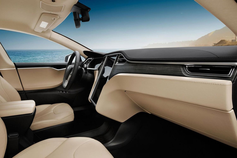 Tesla Model S P85 Sedan Interior (2014 model year shown)