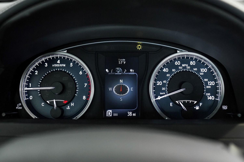Toyota Camry Sedan XLE Gauge Cluster (2015 model year shown)