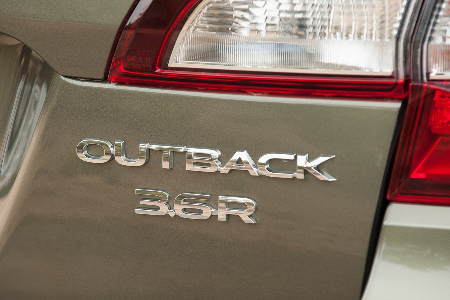 2015 Subaru Outback 3.6R Limited Wagon Rear Badge