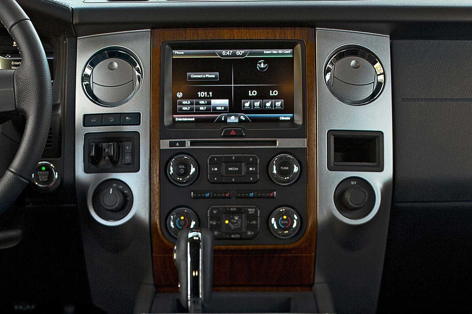 Ford Expedition King Ranch 4dr SUV Center Console Shown (2015 model year shown)