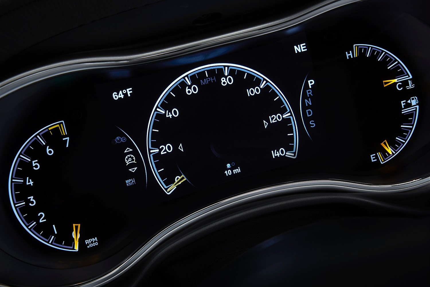 Jeep Grand Cherokee Summit 4dr SUV Gauge Cluster (2015 model year shown)