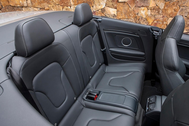 Audi S5 Convertible Prestige quattro Rear Interior (2015 model year shown)