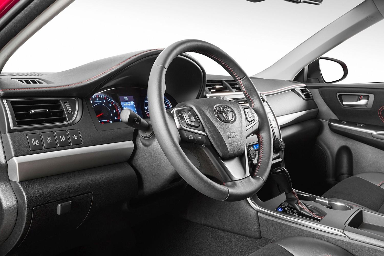 Toyota Camry XSE Sedan Steering Wheel Detail (2015 model year shown)