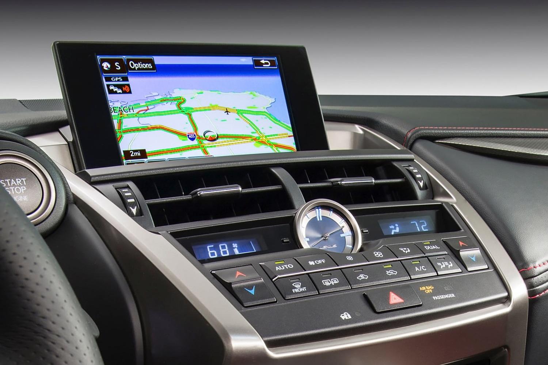 Lexus NX 200t F SPORT 4dr SUV Navigation System (2015 model year shown)