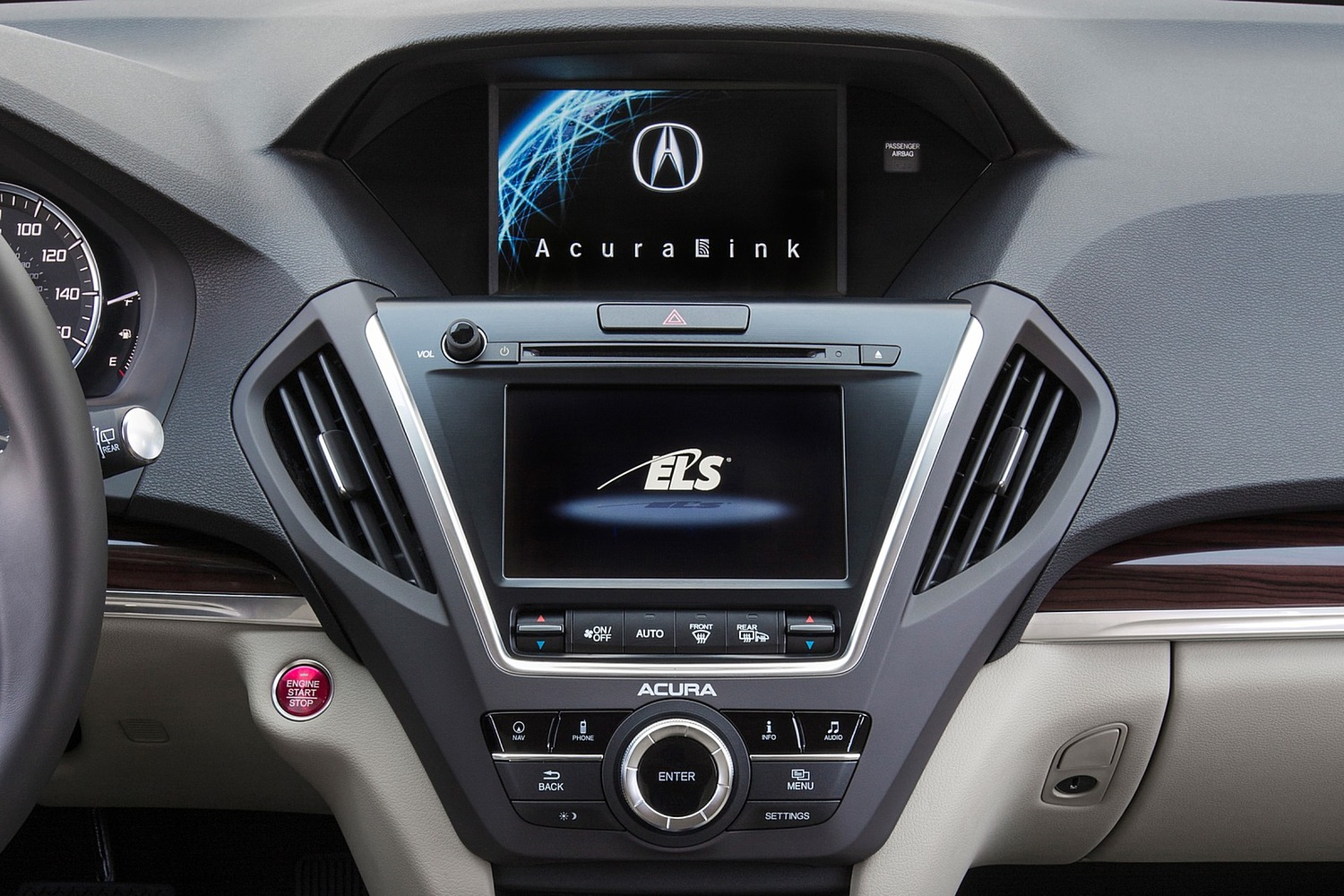 2016 Acura MDX Technology, Entertainment and AcuraWatch Plus Packages 4dr SUV Center Console