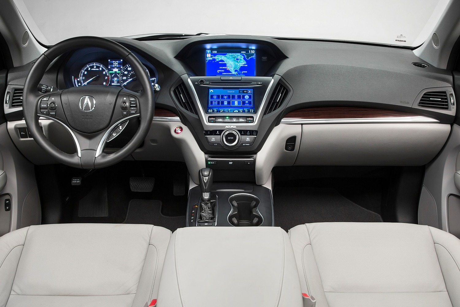 2016 Acura MDX SH-AWD w/Technology, Entertainment and AcuraWatch Plus Packages 4dr SUV Dashboard Shown