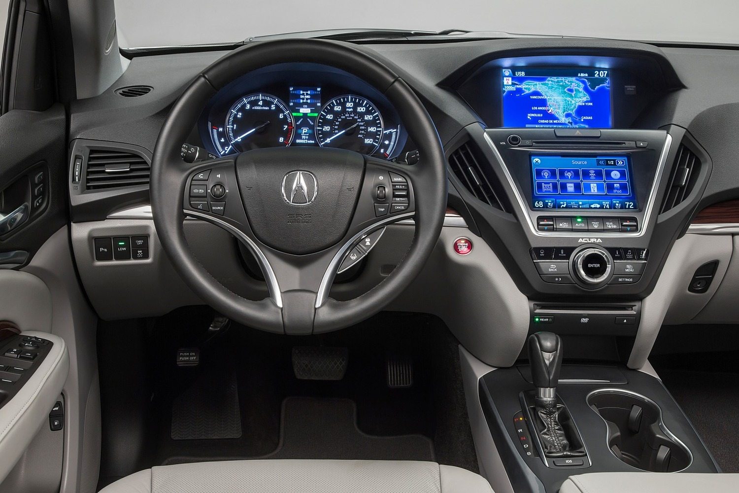 2016 Acura MDX SH-AWD w/Technology, Entertainment and AcuraWatch Plus Packages 4dr SUV Dashboard