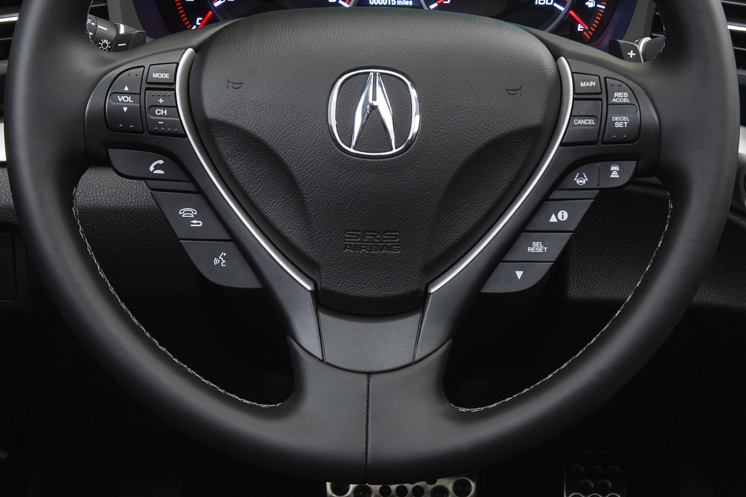 Acura ILX Technology Plus and A-SPEC Packages Sedan Aux Controls (2016 model year shown)