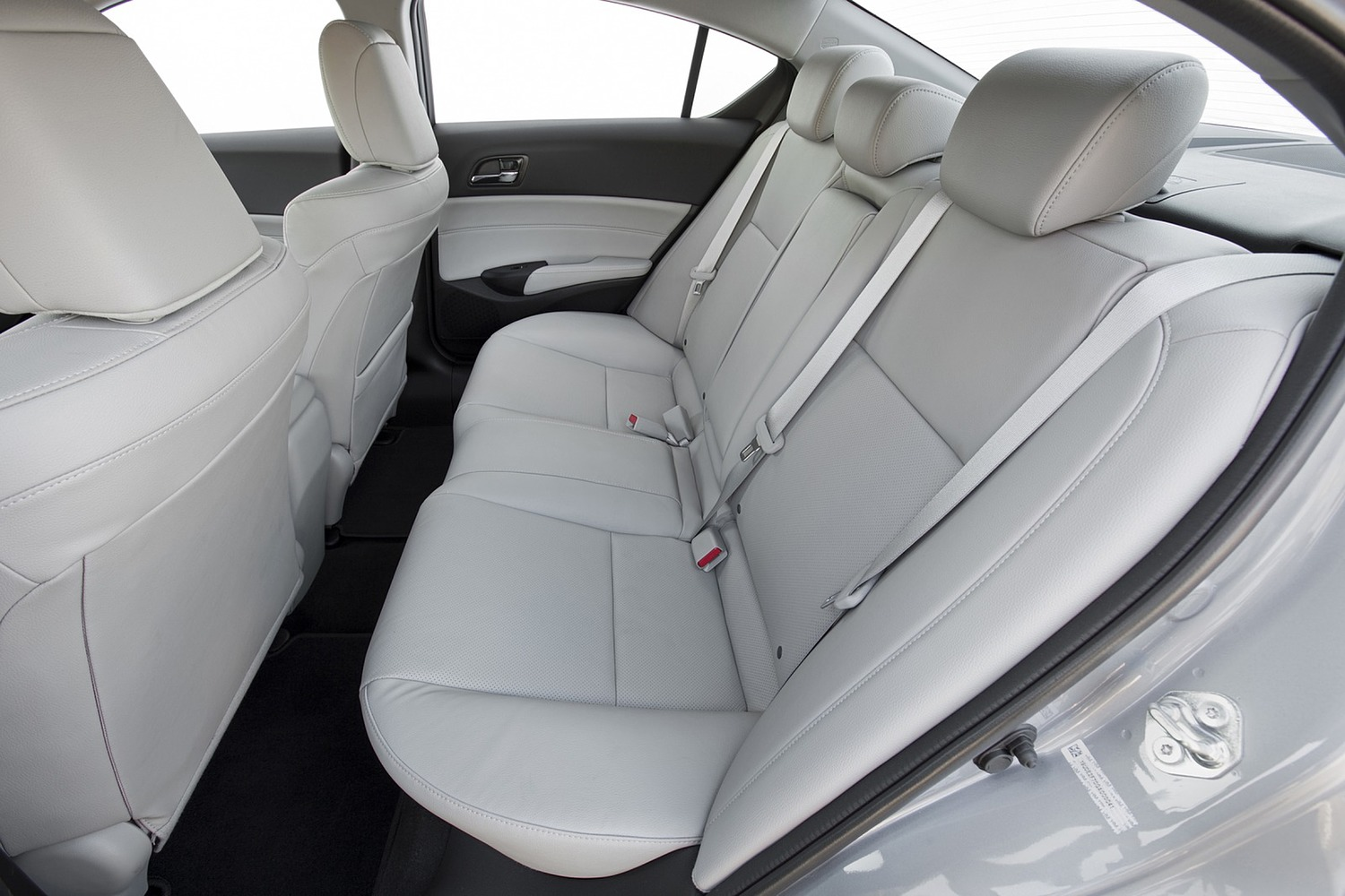 Acura ILX Technology Plus Package Sedan Rear Interior (2016 model year shown)