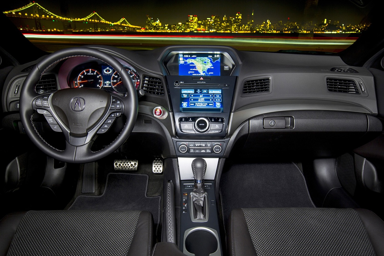 Acura ILX Technology Plus and A-SPEC Packages Sedan Dashboard (2016 model year shown)