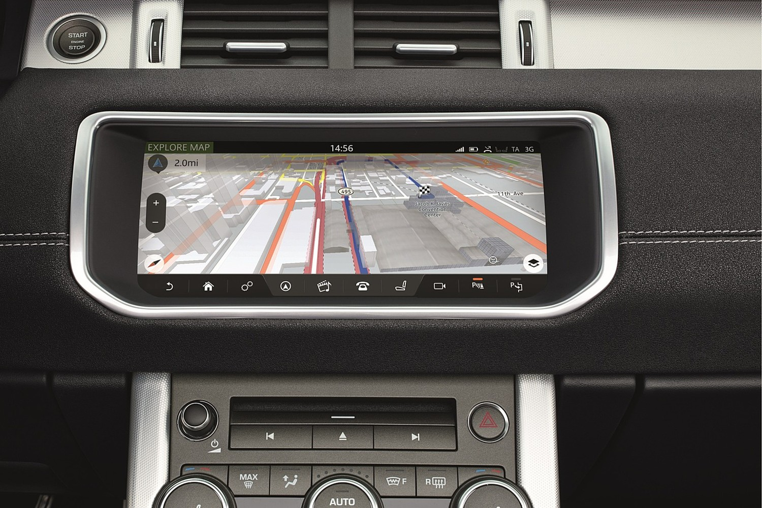 Land Rover Range Rover Evoque HSE Dynamic Convertible SUV Navigation System (2017 model year shown)