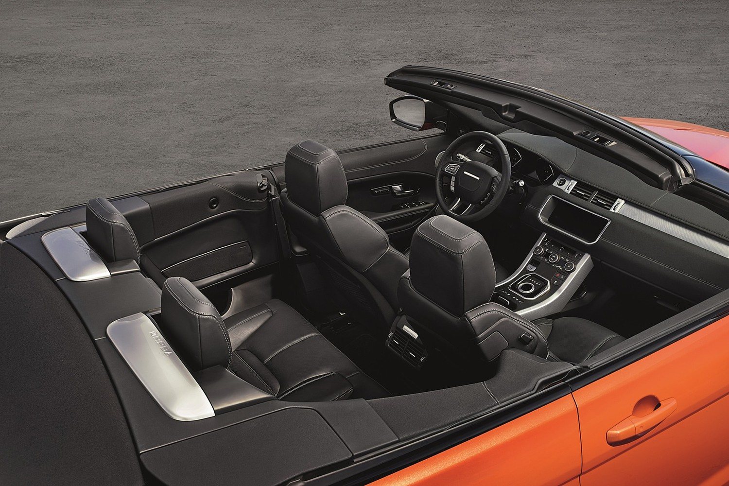 Land Rover Range Rover Evoque HSE Dynamic Convertible SUV Interior (2017 model year shown)