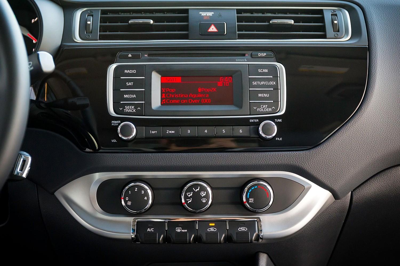 Kia Rio EX Sedan Center Console (2016 model year shown)