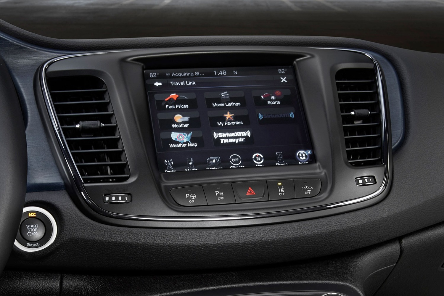 2016 Chrysler 200 S Sedan Center Console