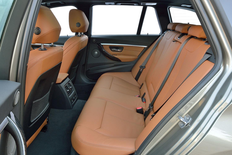 BMW 3 Series 328d xDrive Wagon Rear Interior. Euro Model Shown. (2016 model year shown)