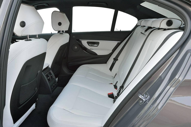 BMW 3 Series 340i Sedan Rear Interior. M Sport Package Shown. (2016 model year shown)