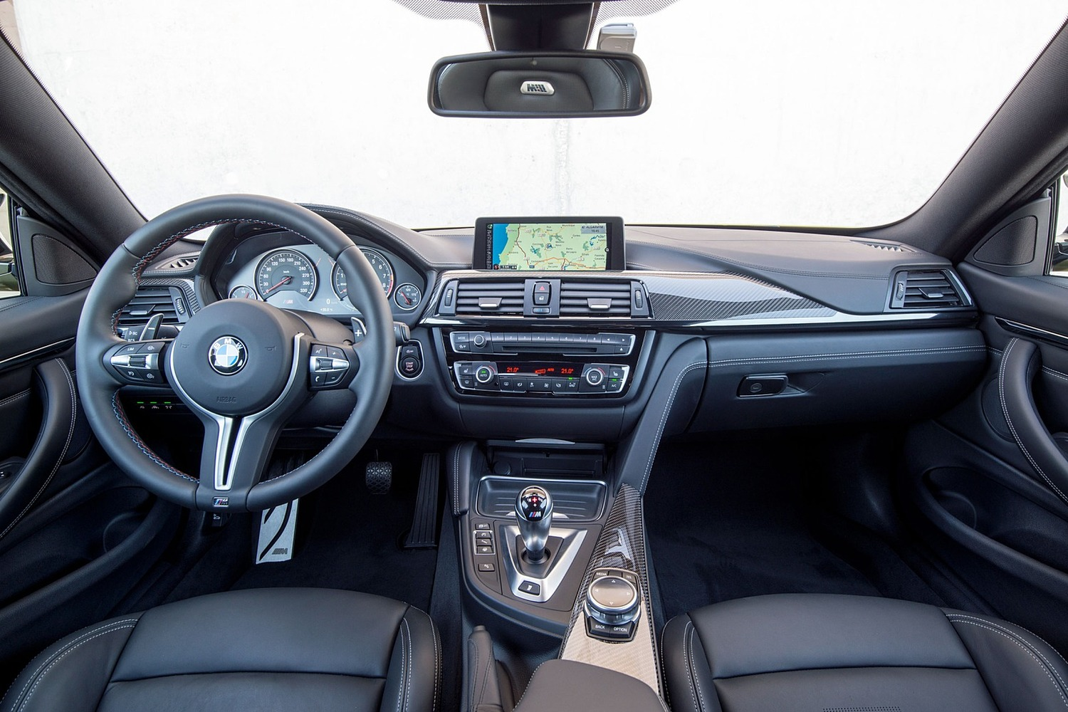 BMW M4 Coupe Dashboard (2016 model year shown)