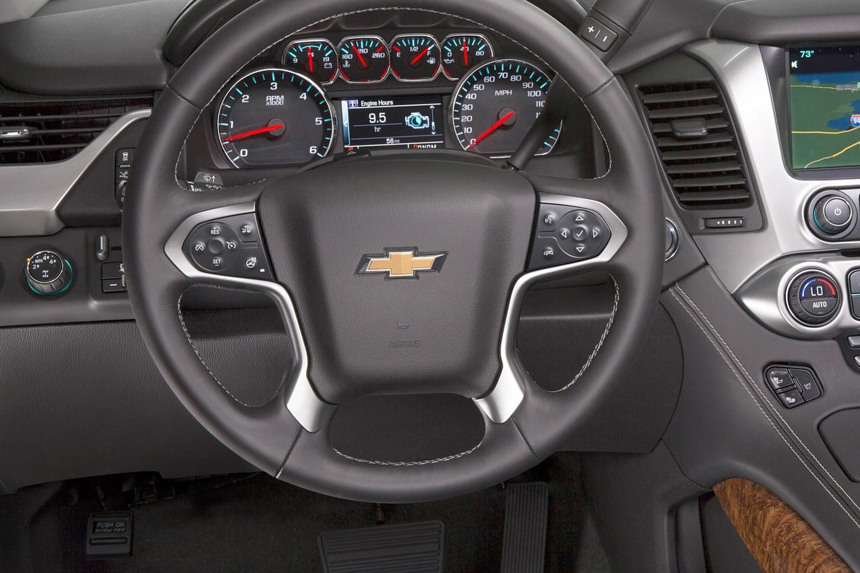 2016 Chevrolet Tahoe LTZ 4dr SUV Steering Wheel Detail Shown