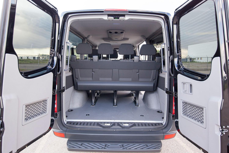 Mercedes-Benz Sprinter 2500 144 WB Passenger Passenger Van Cargo Area (2016 model year shown)
