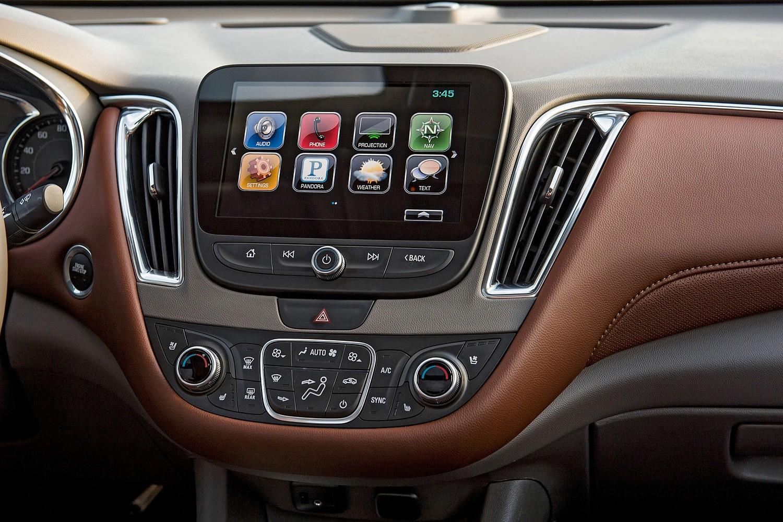 Chevrolet Malibu Premier Sedan Center Console (2016 model year shown)