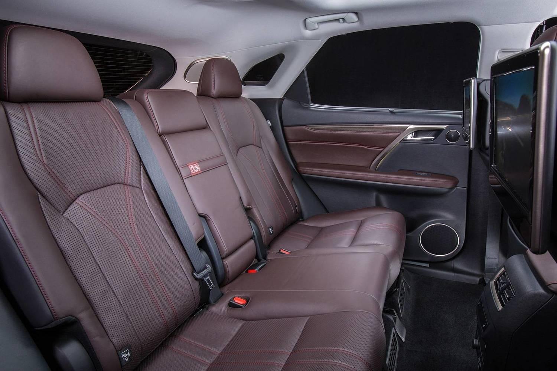 Lexus RX 450h 4dr SUV Rear Interior (2016 model year shown)