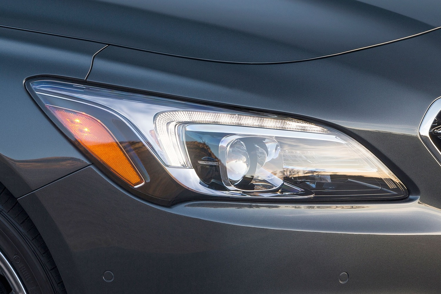 Buick LaCrosse Premium Sedan Headlamp Detail (2017 model year shown)