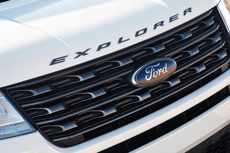 2017 Ford Explorer XLT 4dr SUV Front Badge. Sport Appearance Package Shown.