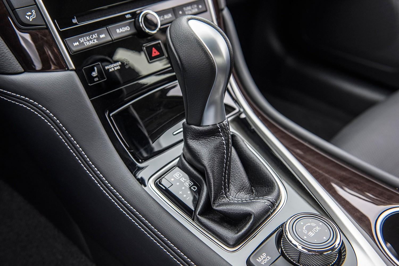Infiniti Q50 Red Sport 400 Sedan Shifter (2016 model year shown)