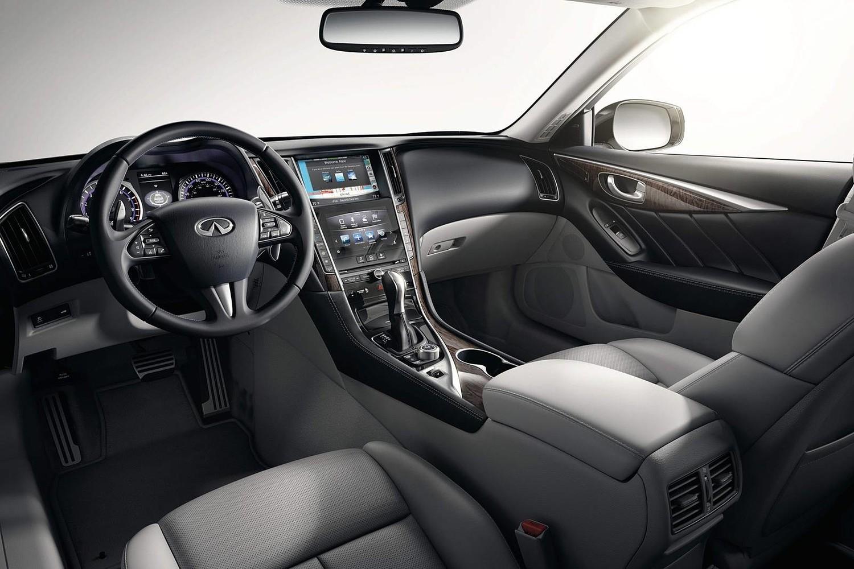 Infiniti Q50 Red Sport 400 Sedan Interior (2016 model year shown)