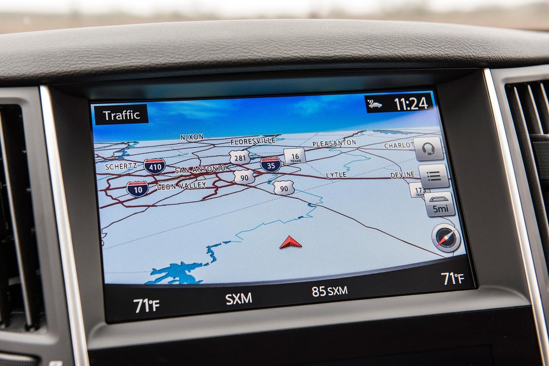 Infiniti Q50 Red Sport 400 Sedan Navigation System (2016 model year shown)