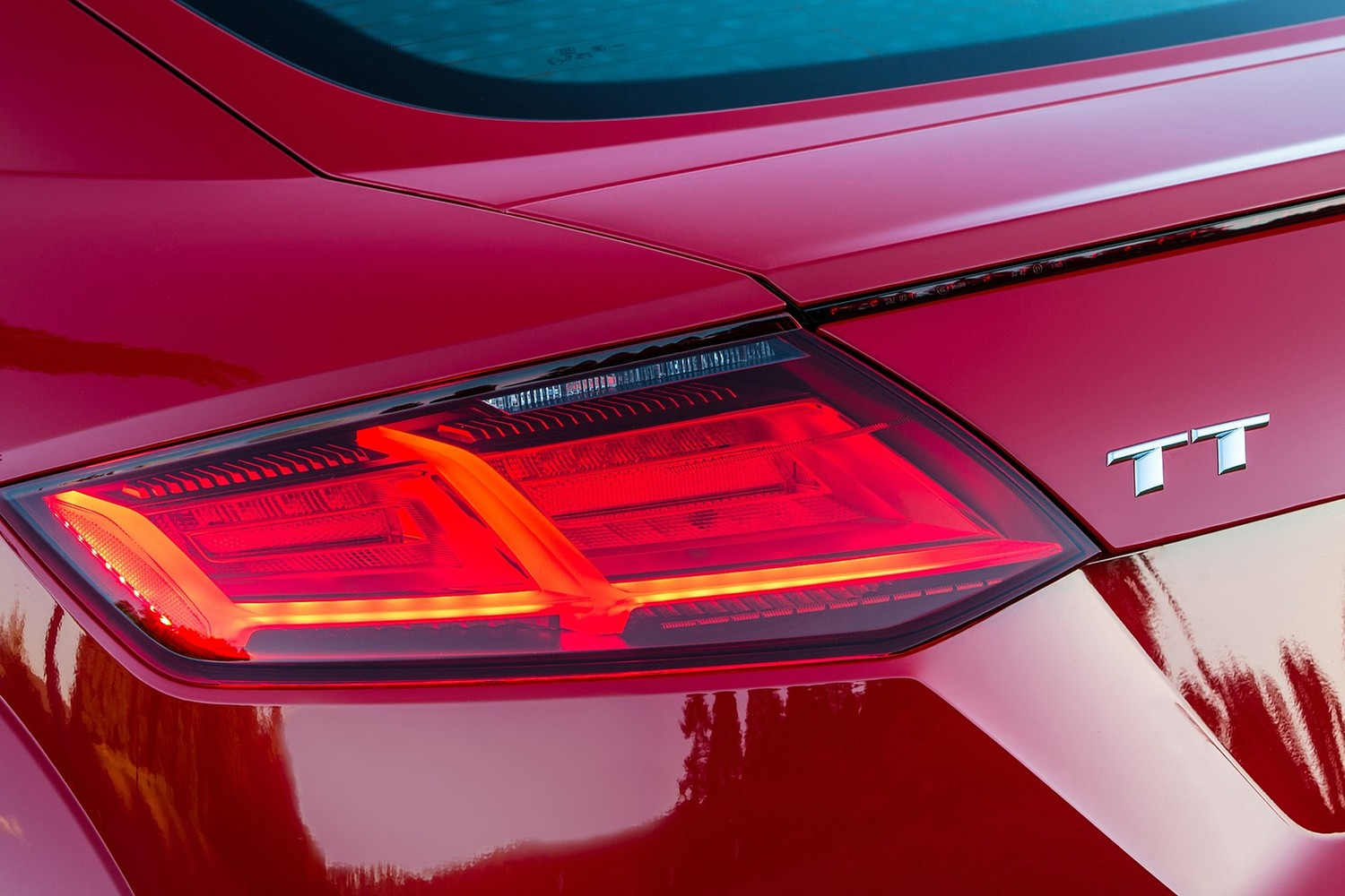 Audi TT 2.0T quattro Coupe Rear Badge (2017 model year shown)