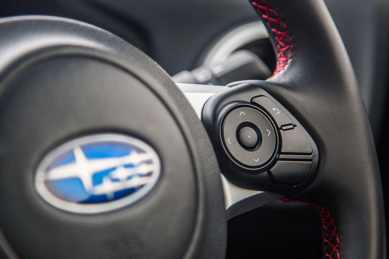 Subaru BRZ Limited Coupe Aux Controls (2017 model year shown)