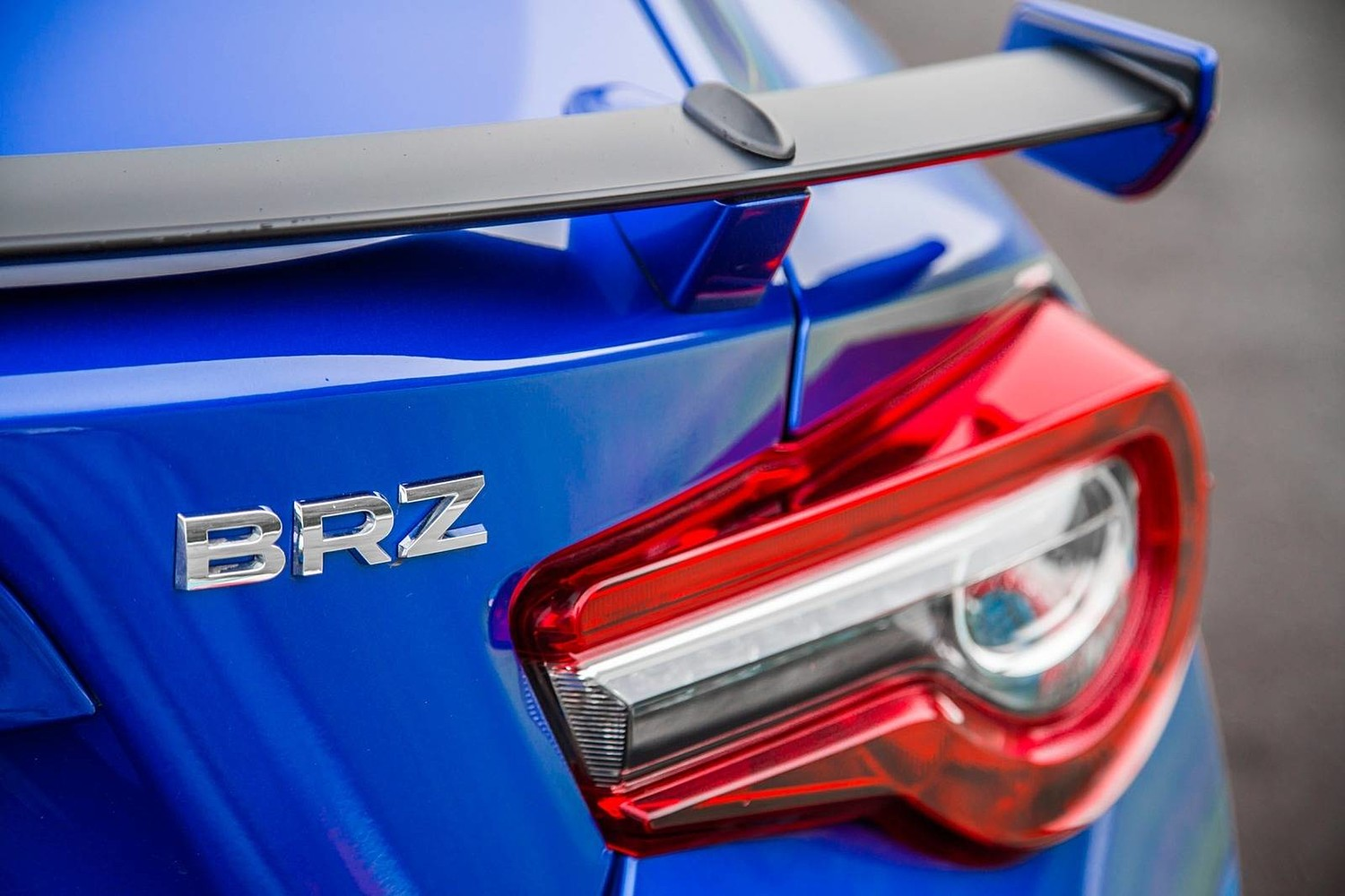 Subaru BRZ Limited Coupe Rear Badge (2017 model year shown)