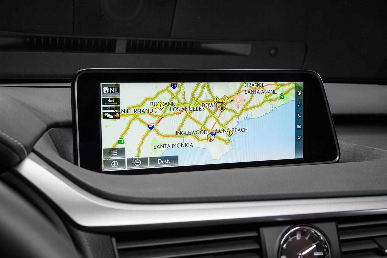 Lexus RX 350 F SPORT 4dr SUV Navigation System (2017 model year shown)
