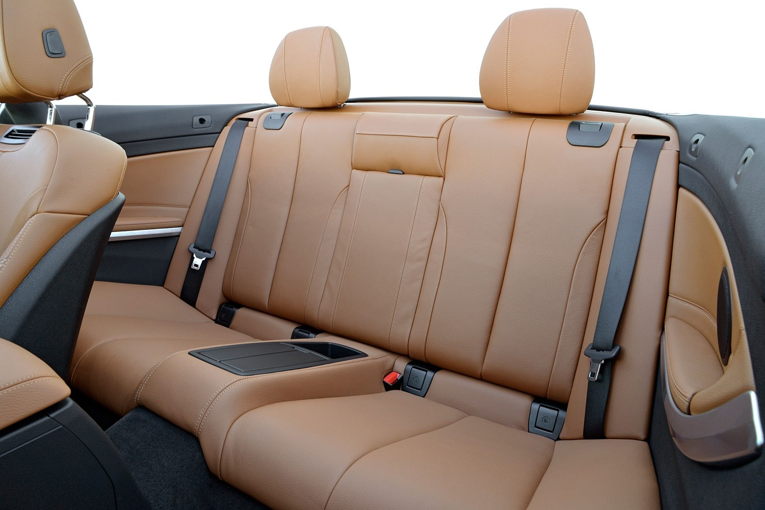 2017 BMW 4 Series 440i Convertible Rear Interior. Luxury Line Package Shown.