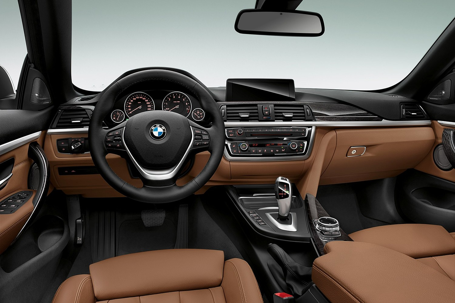2017 BMW 4 Series 430i SULEV Convertible Dashboard. Luxury Line Package Shown.