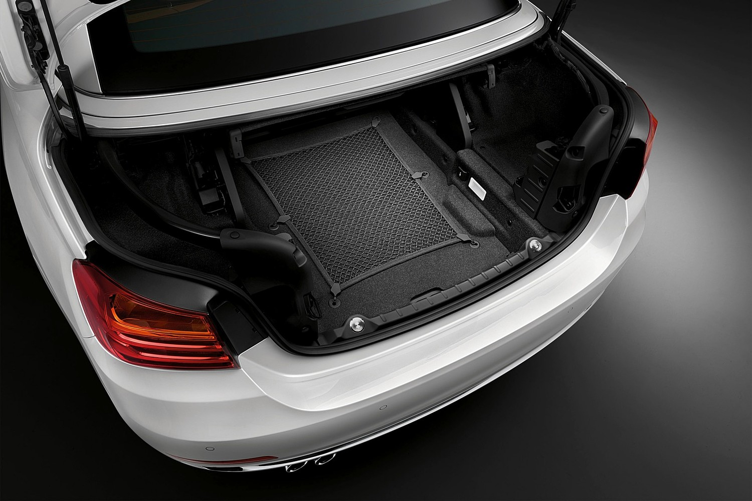 2017 BMW 4 Series 430i SULEV Convertible Cargo Area. Luxury Line Package Shown.