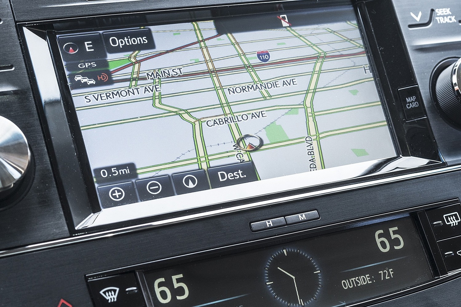 Toyota Avalon Hybrid Sedan Navigation System (2017 model year shown)