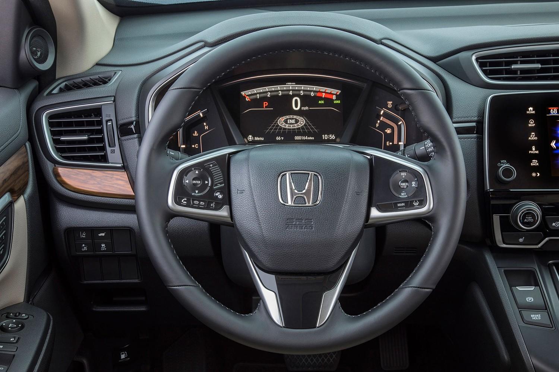 Honda CR-V Touring 4dr SUV Steering Wheel Detail (2017 model year shown)