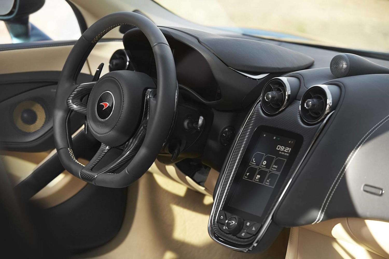 2017 McLaren 570GT Coupe Steering Wheel Detail