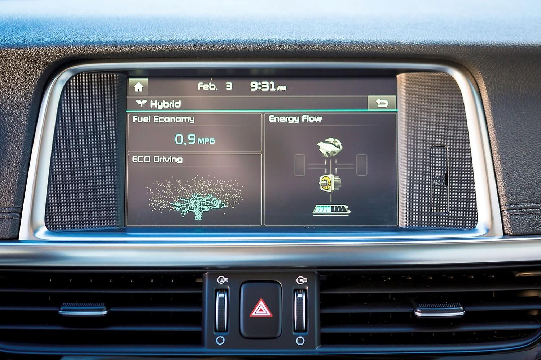 Kia Optima Plug-In Hybrid EX Sedan Center Console (2017 model year shown)